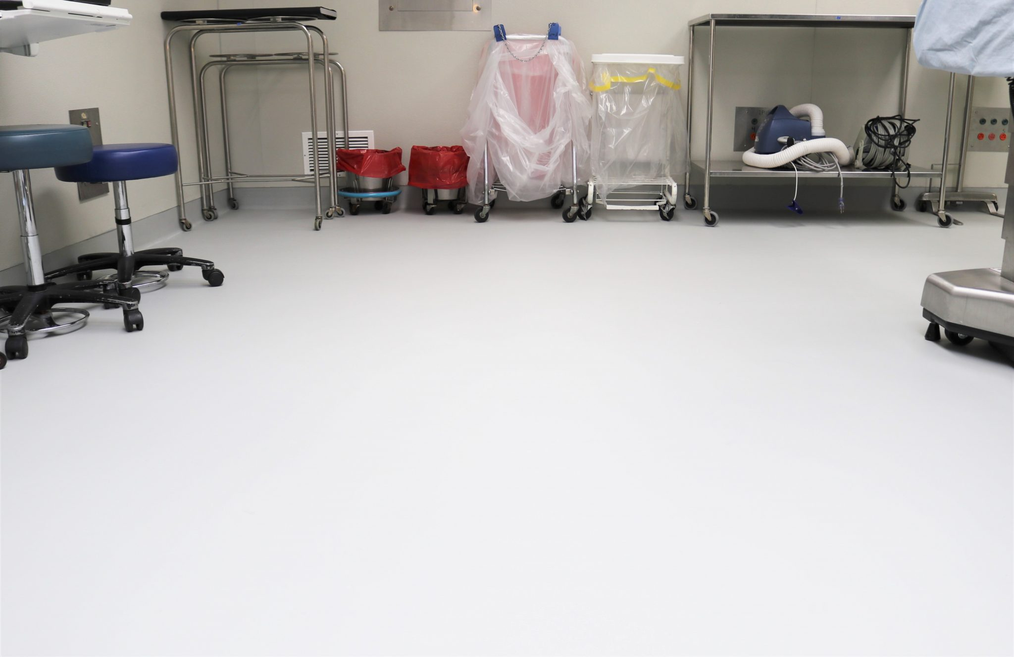 Operating room floor at Seattle VA Hospital